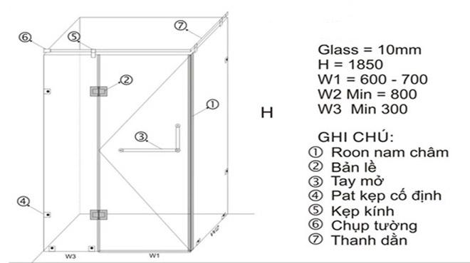 Cabin phòng tắm nên sử dụng kính cường lực dày bao nhiêu mm?