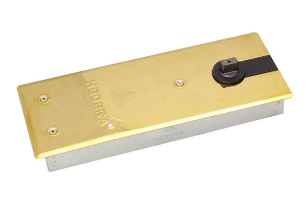 Bản lề sàn tải trọng 110 kg nắp inox mạ vàng